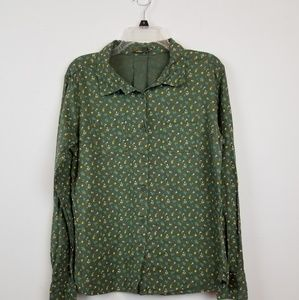 Prana women's button down shirt size large